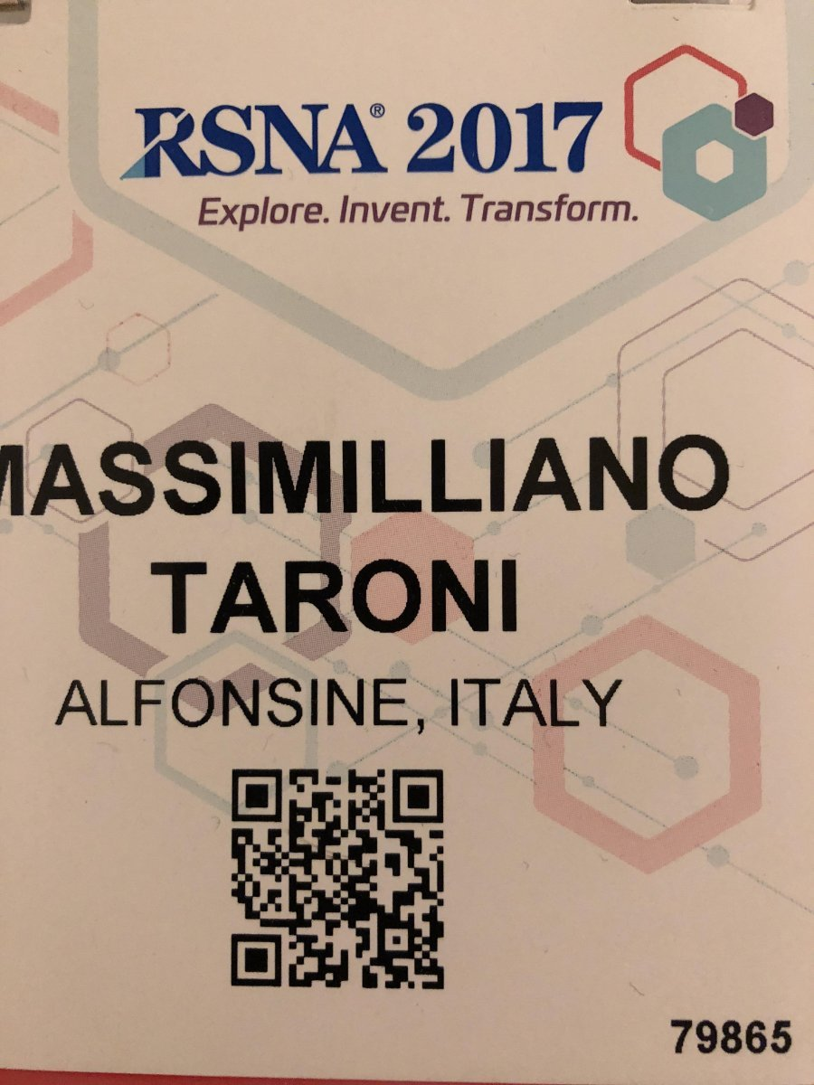 Also Fonderia Taroni USA was at RSNA 2017